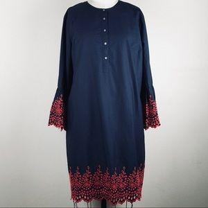 J.CREW Navy Blue Long Sleeves Dress Size XXL